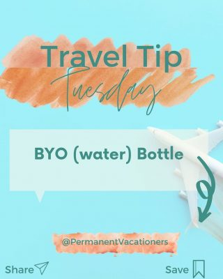 Stay Hydrated! Disposable or reusable, I recommend bringing two full water bottles before your international flight. And always ask the flight attendant for water when they pass by. It's recommended to drink at least 8 OZ of water for each hour air travel.  Fill up your water bottle during layovers prior to your flight.  ⠀⠀⠀⠀⠀⠀⠀⠀⠀ Bring a reusable, collapsable water bottle (see my blog post for must have items for Amazon for. my favorite!)  ⠀⠀⠀⠀⠀⠀⠀⠀⠀ How do you stay hydrated during travel?