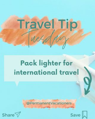 Dont make this mistake when traveling internationally: pack a lighter suitcase and only what you need! You'll thank youself once you're carrying luggage from city to city and have extra room for souvenirs.