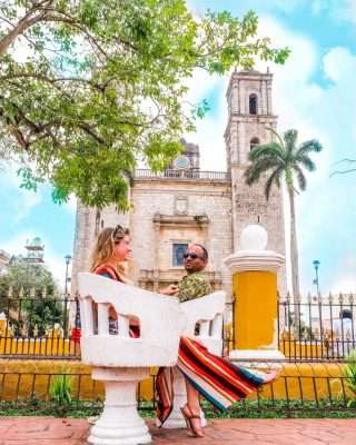Save this post for your next trip to the Yucatán Peninsula! ⠀⠀⠀⠀⠀⠀⠀⠀⠀ The town of Valladolid has so much history and culture to offer. It's a must see stop if you're on your way to Chichen Itza⠀⠀⠀⠀⠀⠀⠀⠀⠀ Stop for a swim in the local cenote, have dinner at a local authentic restaurant and be sure to go to the town square to see the historic church ⛪️
