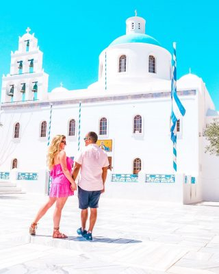 SAVE this post for your trip to Santorini! Here are the most popular temples to visit: ⠀⠀⠀⠀⠀⠀⠀⠀⠀ ⠀⠀⠀⠀⠀⠀⠀⠀⠀ 1. Panagia Platsani Church (pictured) in Oia 2. Church of Agios, Stefnos, in Perissa 3. Church of Agia Marina in Megalochori 4. Heroon -  Church of the Annunciation in Ancient Thera ⠀⠀⠀⠀⠀⠀⠀⠀⠀ ⠀⠀⠀⠀⠀⠀⠀⠀⠀ Have you been to any of these?  . . . . . . . #visitgreece #greeceislands #kefalonia #greekisland #corfugreece #feelgreece #visitsantorini #santorinisecrets #santoriniwedding #santoriniphotographer #perfectgreece #adoregreece #greecelovers #streetsingreece #greece_united #wonderfulgreece #greektemplearchitecture #greektemplemonument #churchtower #colorfulhouses #historicplace #oldcities #archaeologylovers #visitplaces #romanarchitecture #worlddestinations #travelfeed