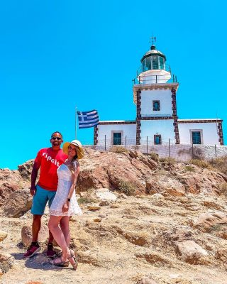 Do you like lighthouses? Akrotiri lighthouse on Santorini, was built in 1892 and was one of the first lighthouses in Greece. Today you can still see light shining from most cities on the island!