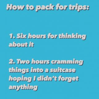 I made this post so I can procrastinate more. Double tap if it's relatable. ❤️   . . . . . . .  #tipsfortravel #instatraveltips #triptipsandtravel #traveltipster #tipstravel #travelwithus #lifewelltravelled #borntotravel #exploretheworld #travellust #getlostnow #traveldreamseekers #travelaccessories #chooseadventure #productpackaging #packingtips #letushelp #toprated