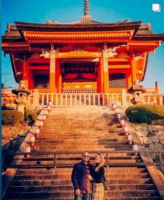 Things to do in Kyoto: Kiyomizudera Temple -  ⠀⠀⠀⠀⠀⠀⠀⠀⠀ This place is one of the most celebrated temples in Japan. It was founded in 780 on the site of the Otowa Waterfall in the wooded hills east of Kyoto.  Visit in Spring or Fall when cherry and maple trees are the most beautiful colors